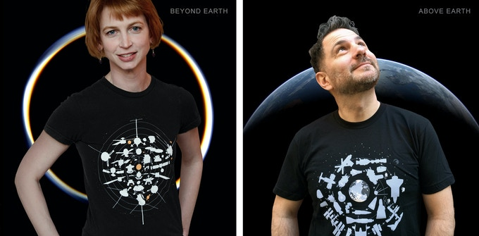 Beyond and Above Earth Tees