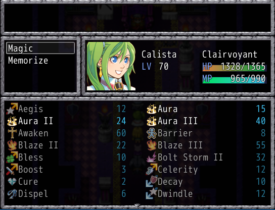 This is just a taste of Calista's spell pool.