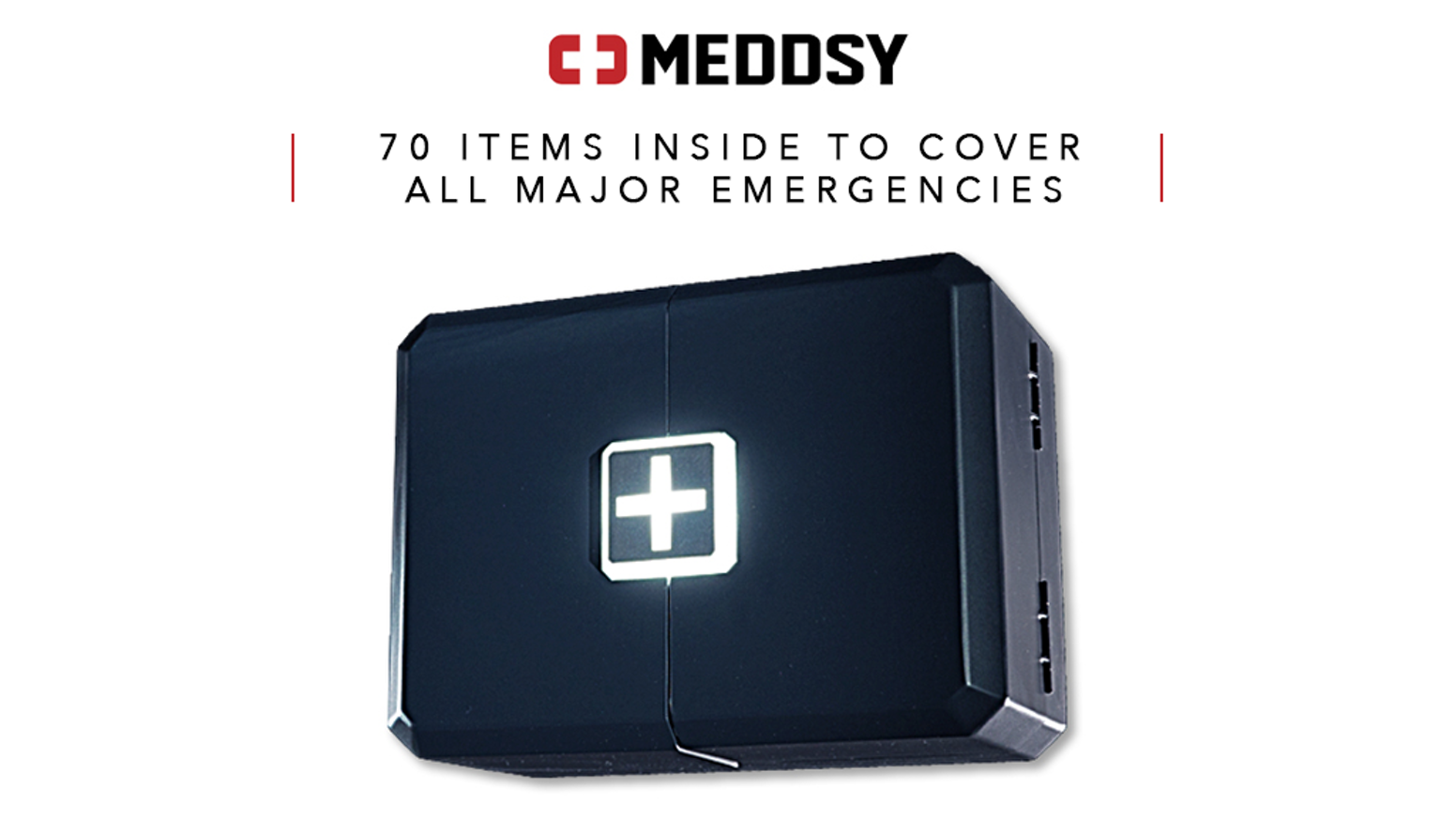 70 items inside to cover all major emergencies. Engineered by travelers, doctors, soldiers, rescue and survival experts.