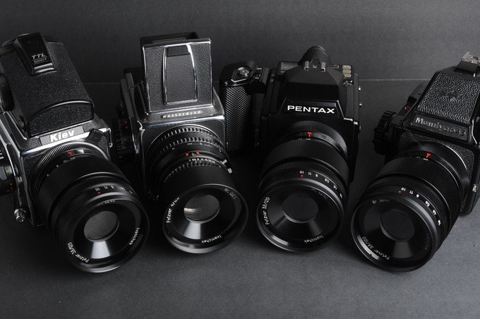 Petzvar lenses for Pentacon Six, Pentax 645, Mamiya 645 and Hasselblad cameras