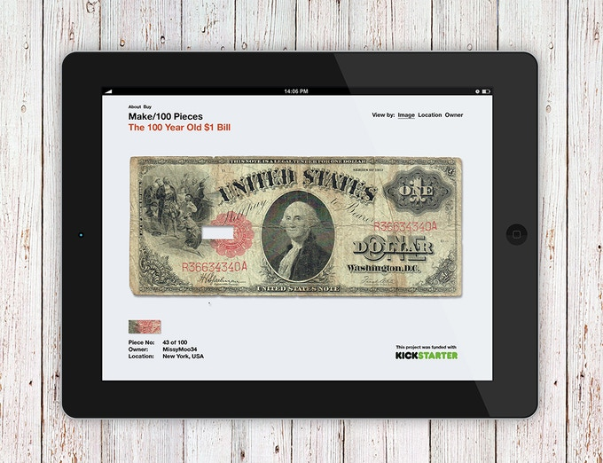 A website will show the original banknote in its original complete form.