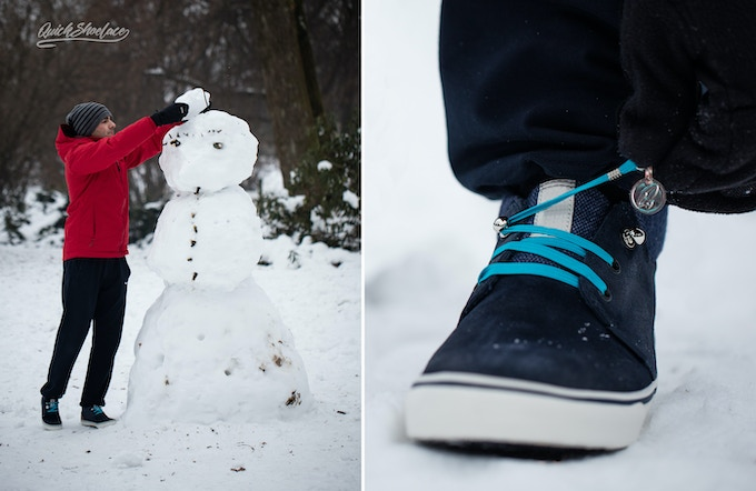 We know that laces are problem in winter, so keep your hands warm :)