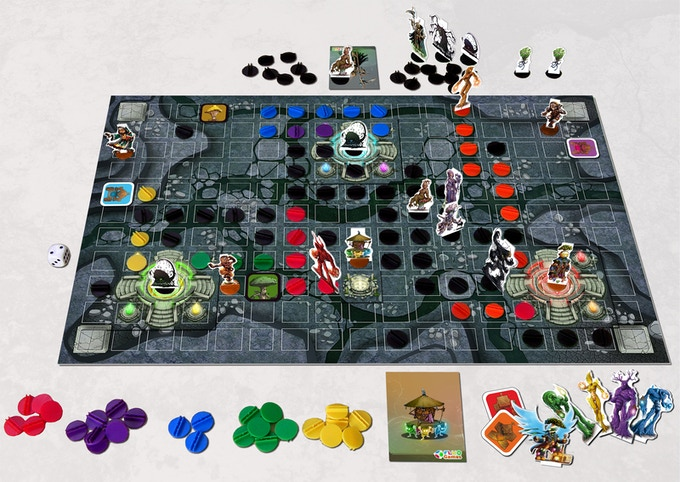 Color Warz - Dark Threat boardgame