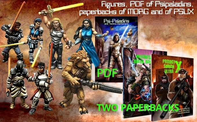 Miniatures + PDF + Printed versions of the two core books