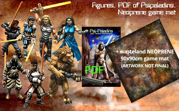 the miniatures + PDF+ 90cm x 90cm Game mat