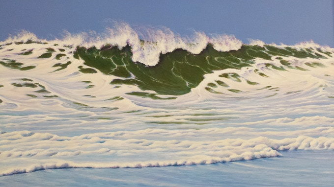 """The Spirit of Winter Surf"", detail of right-side painting"