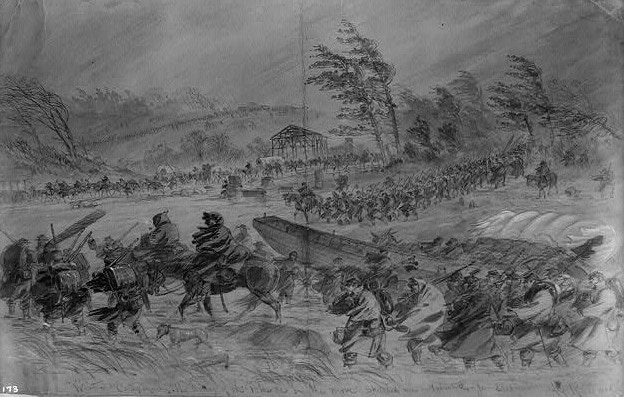 Winter Campaigning. The Army of the Potomac on the move - Library of Congress