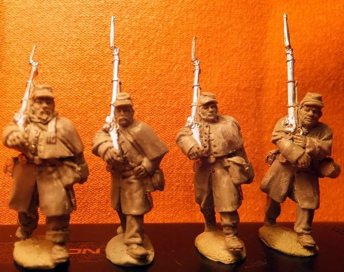 28mm Union Soldiers Marching