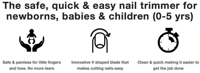 The Nail Snail 3 In 1 Baby Fingernail Toenail Trimmer Tool By
