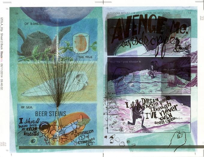 Example of a Proof Print   Art by Paul K. Tunis, Alexandra Beguez, Alexander Rothman