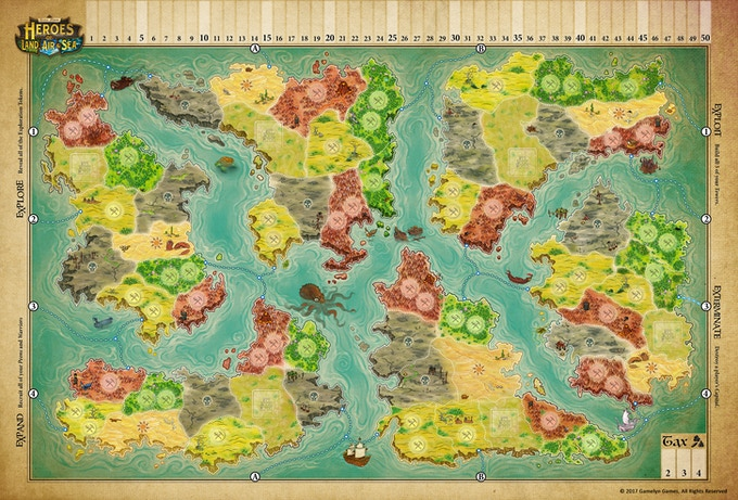 Click to see the Full Map! © 2017 Gamelyn Games, all rights reserved.