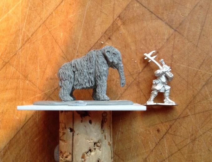 Test Mammoth Miniature (no tusks yet)