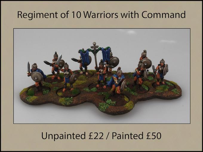Regiment of 10 Warriors with Standard & Musician
