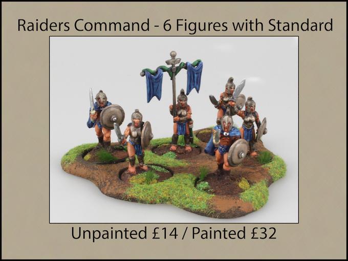 Raiders Command - 6 Figures with Hero & Standard