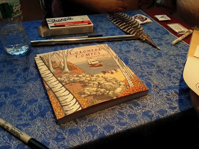 COLONIAL COMICS, at a signing at BookCourt in Brooklyn.