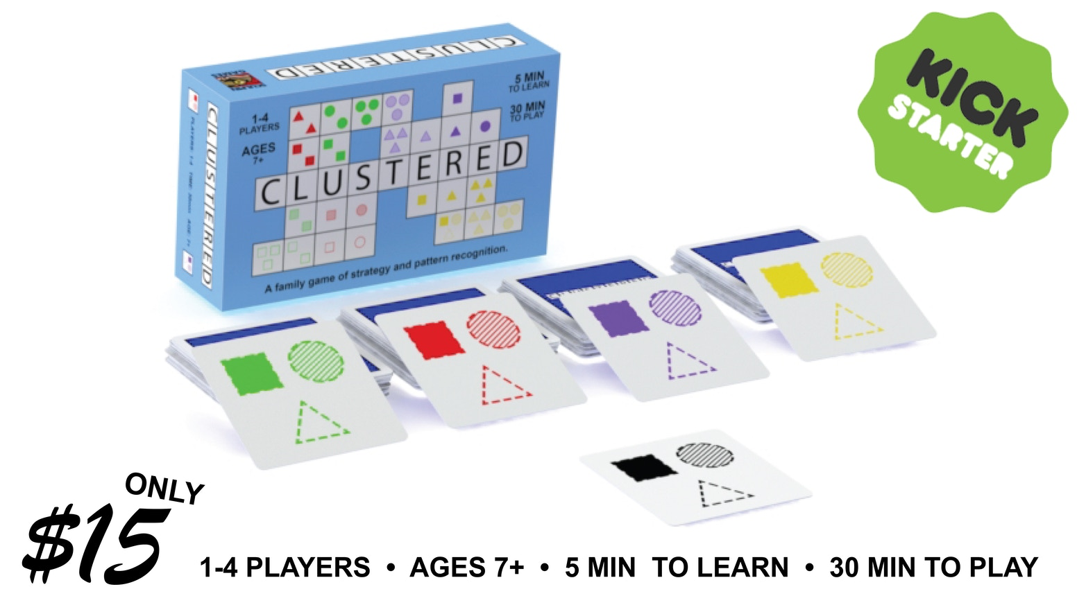 A tactical card game of placing cards in clusters while blocking your opponents from doing so.