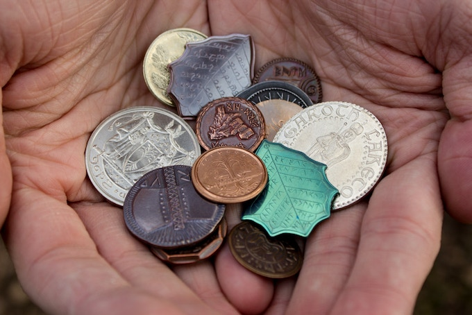 Coins from Middle-earth made by Shire Post Mint