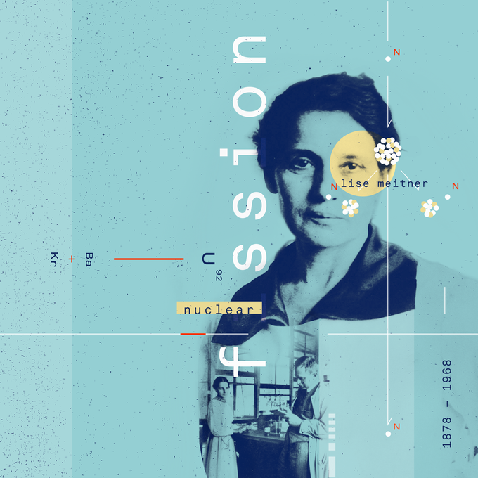 Lise Meitner collage. Her work laid the foundation for the creation of the Atomic bomb. She should have gotten the Nobel Prize along with Otto Hahn.