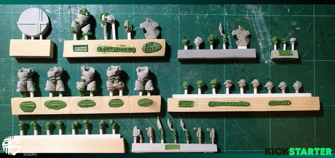 The core set and Cassius exclusive miniature ready to go to mould.