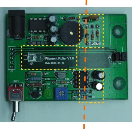 Rearrange Components to Make Processor Part (Left) and IR Sensor Part (Right)
