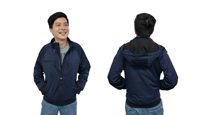 Front and back view of the Sheer Jacket.
