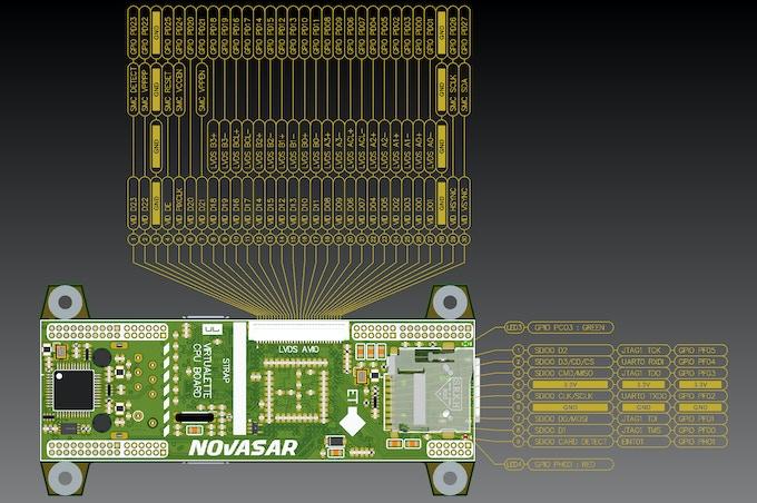 V1 CPU Pinout - bottom