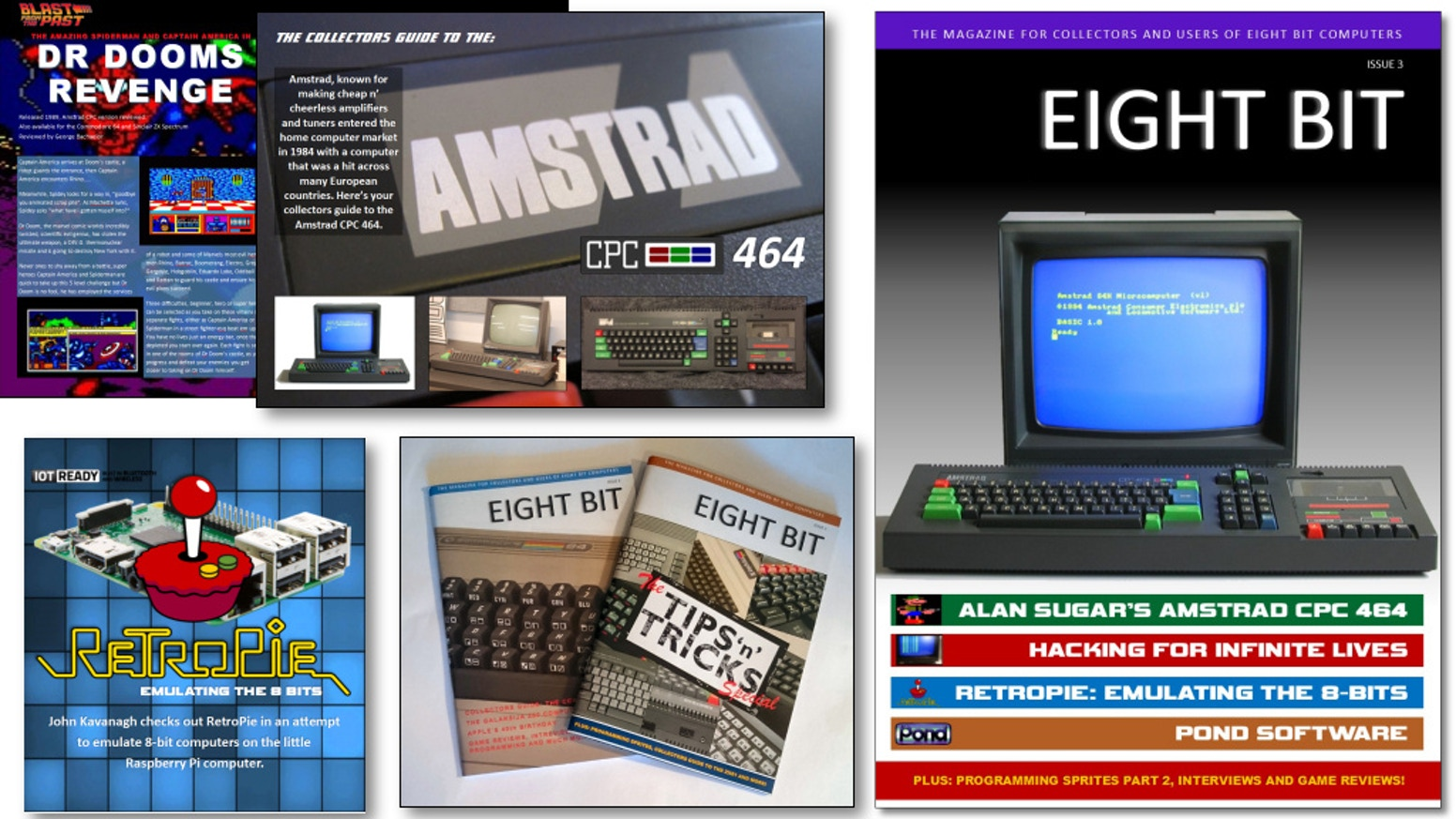 Eight Bit Magazine celebrate 8-bit microcomputers from the 1970's to the early 90's, covering hardware, software and programming.