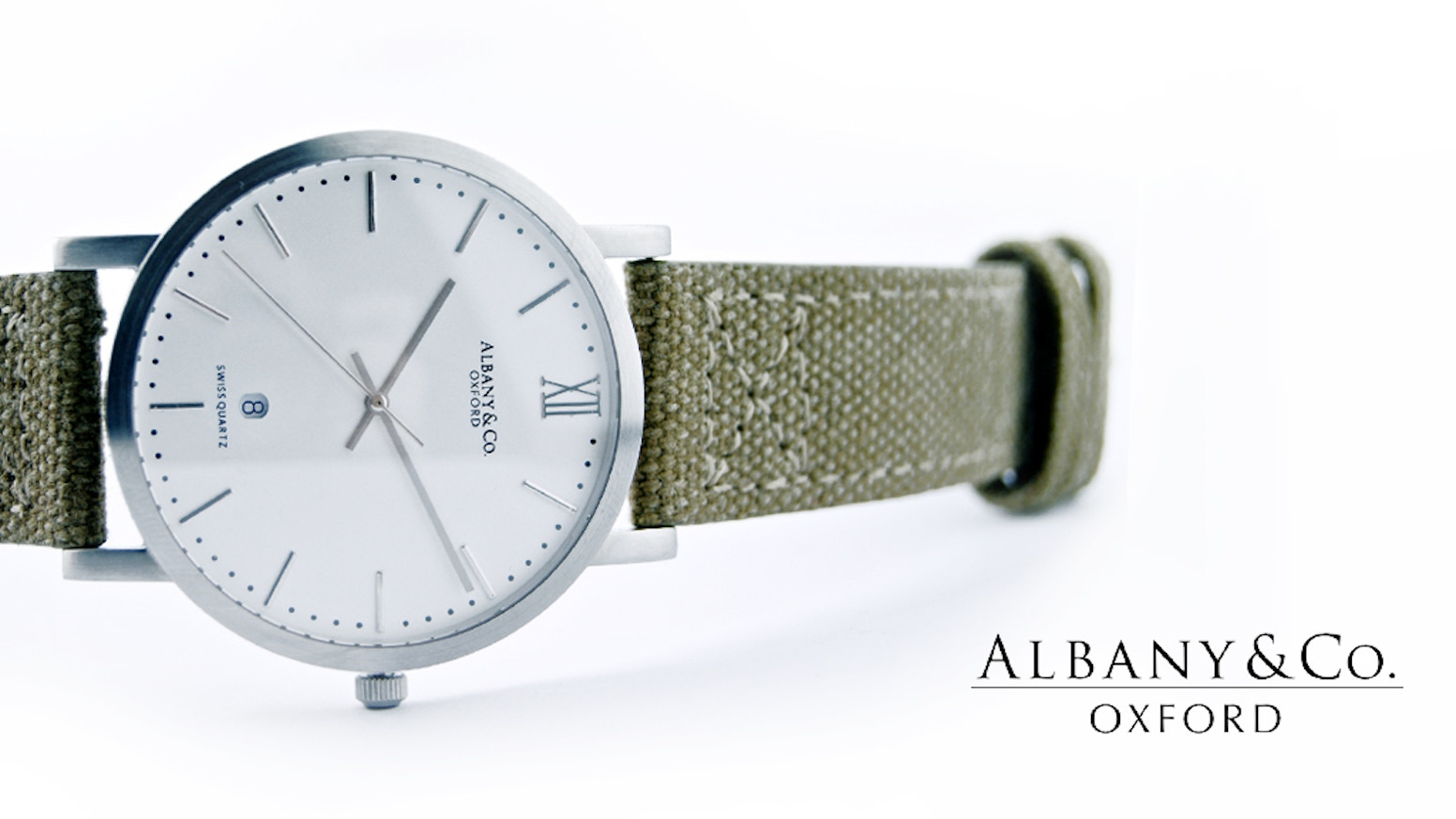 www.albanyandco.com. 100m water resistant watch. Swiss-made Ronda movement, Italian Leather. 50+ colour combos.
