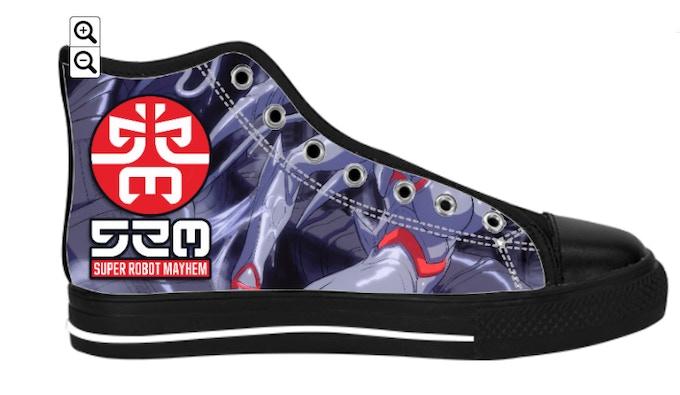 Super Robot Mayhem Canvas Sneakers (other side)