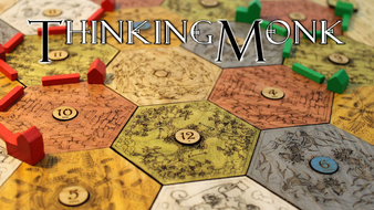 Collectors Hardwood Board for Catan - Thinking Monk Studios