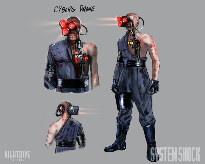 Here is some updated art on our Cyborg Drone done by the talented Robb Waters!