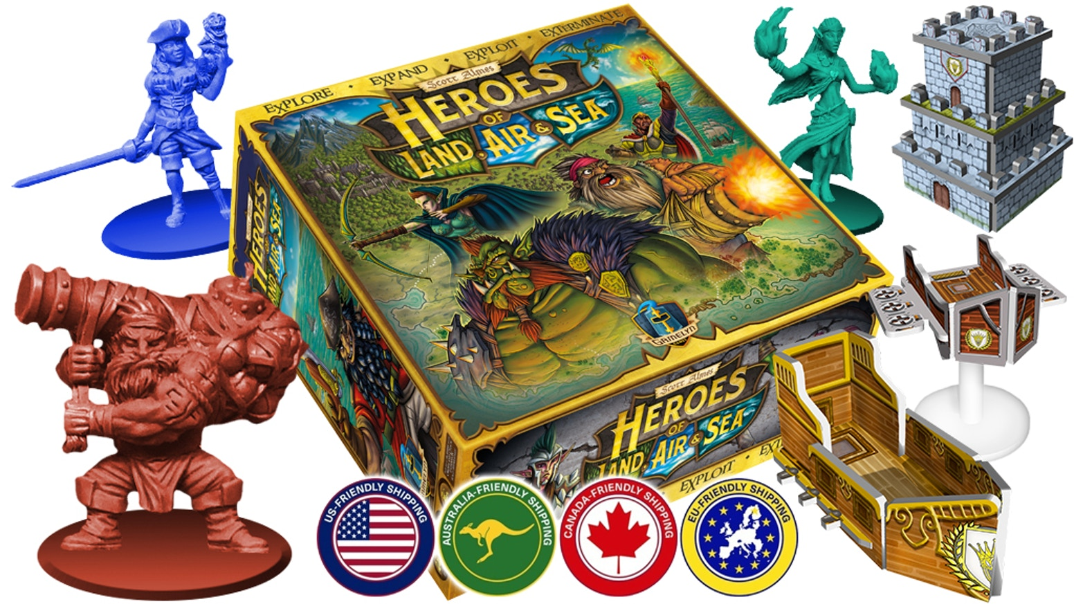 An RTS inspired 4X big box board game with miniatures and 3-D constructs! Easy to learn and easy to play for 1-6* players.
