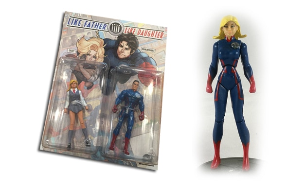 Casey and Invulnerable Figures + Variant Casey Figure