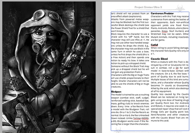 Sample Page from Projext Ultra X Book