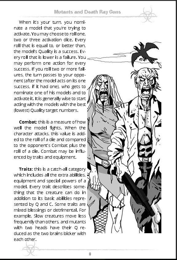 Sample Page from Mutants and Death Ray Guns