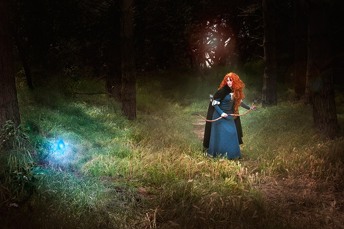 Red Fae Cosplay as Merida (from Brave) in Golden Gate Park