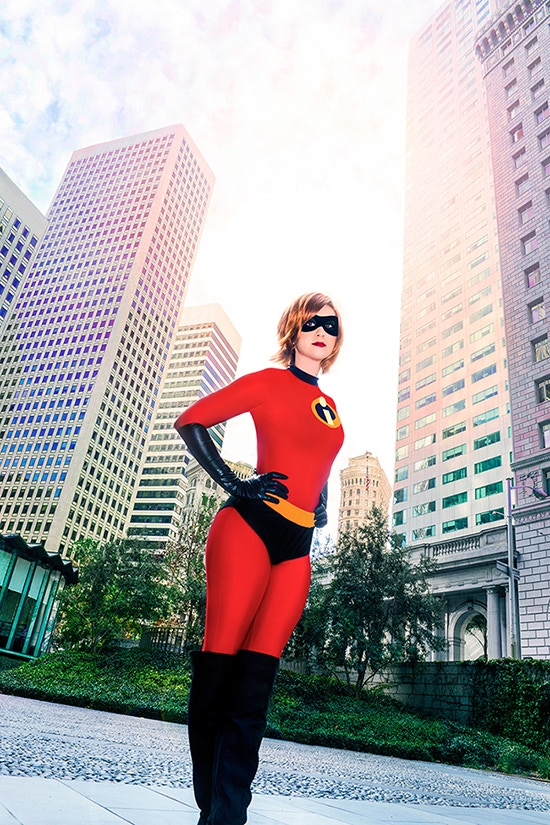 November Cosplay as Mrs. Incredible (from The Incredibles) in downtown San Francisco