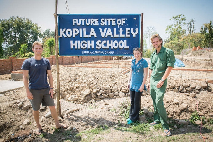 Future site of Kopila Valley High School & Vocational center. The new campus will fulfill a dream that's been 10 years in the making, and is currently under construction a couple miles away from the current location in Surkhet, Nepal.
