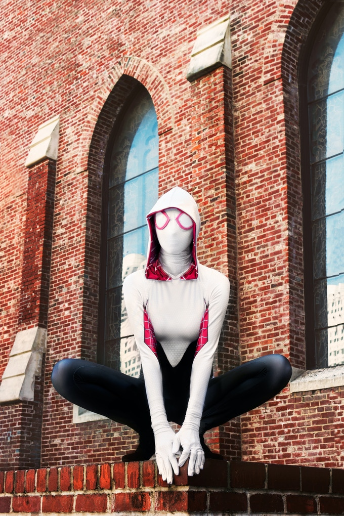 Heather1337 as Spider Gwen in SoMa San Francisco