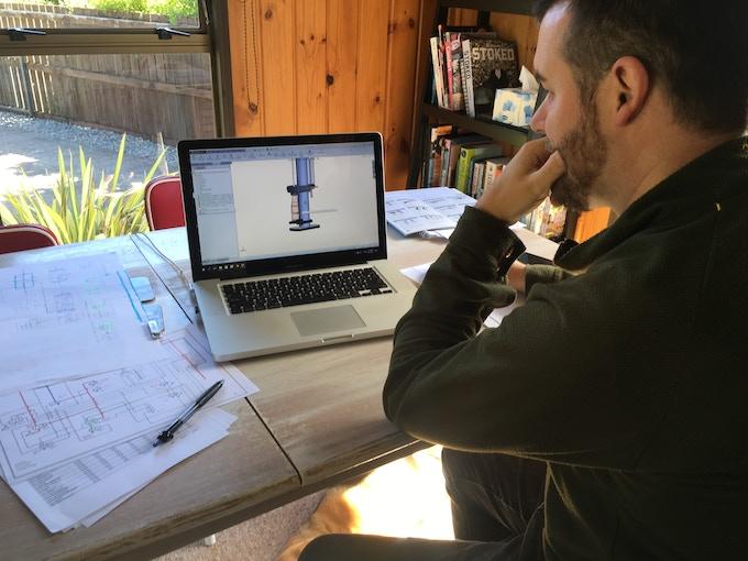 Our Industrial Designer Working Hard