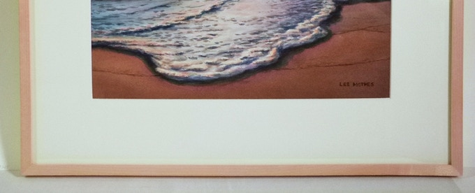 """Surf in the Afterglow"", detail of 18"" by 21"" frame"