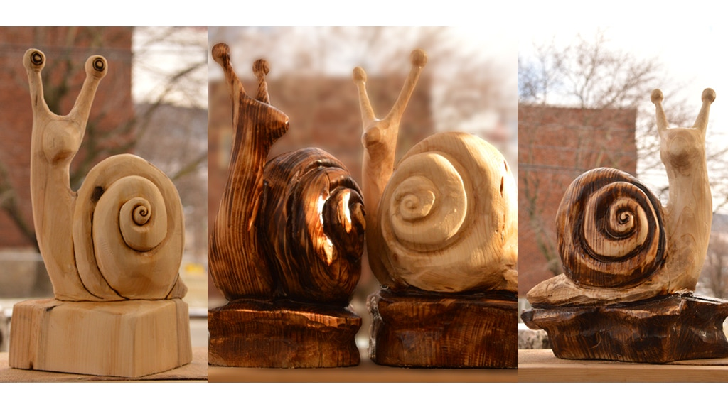 Stylish snail wood sculpture project by richard l