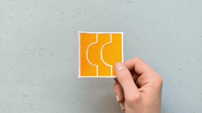 This is Butt Patch 01. It's 2.75 inches square. This one is a sample made by our friend.