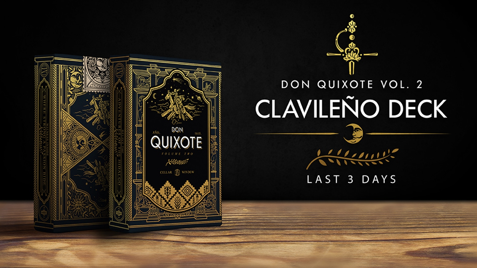 Playing cards inspired by the second novel of The Ingenious Gentleman Don Quixote of La Mancha.