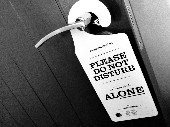 Introvert and INFJ 'Do Not Disturb' Hanging Door Signs by