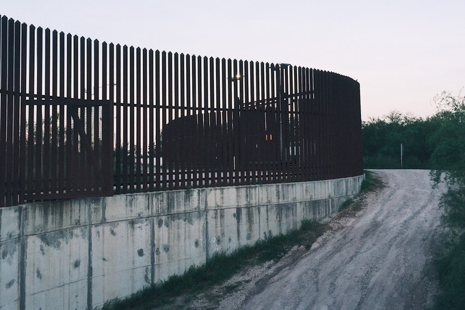 Border Fence in South Texas