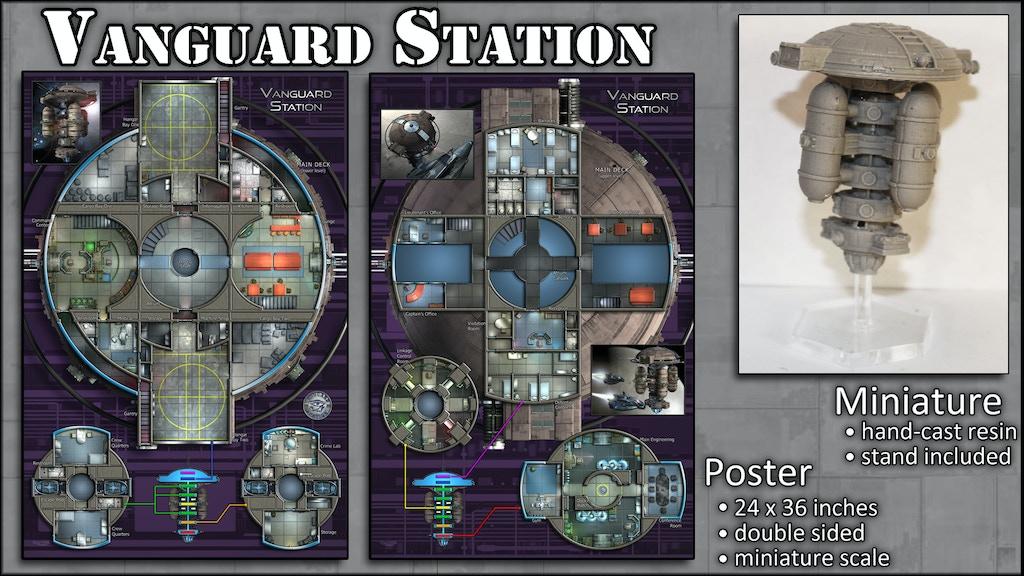 Vanguard Station: Map Poster & Miniature project video thumbnail