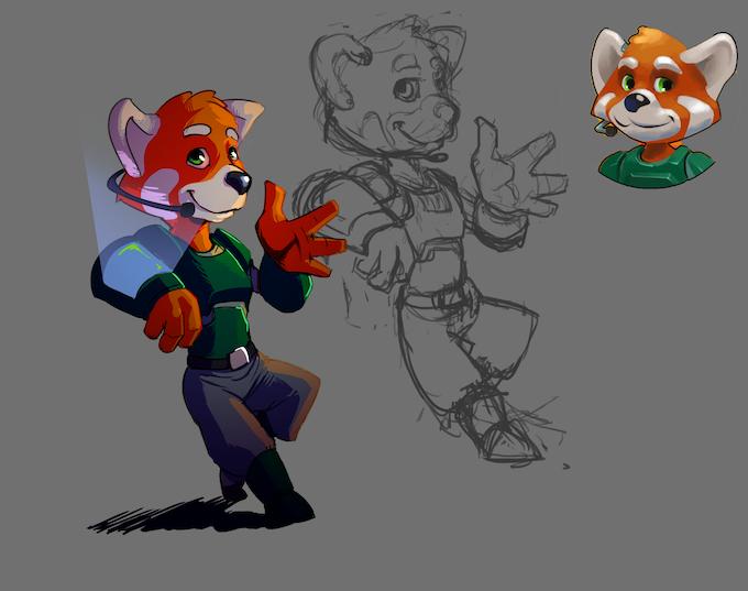 Le panda roux, version garçon
