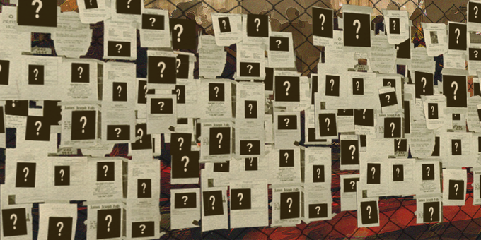 Wall of the missing