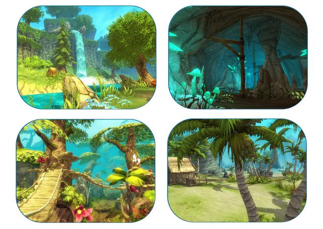 La forêt, la grotte, la jungle et l'île